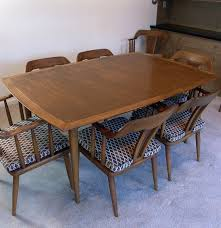 1950 u0027s sophisticate by tomlinson modern table 8 chairs ebth