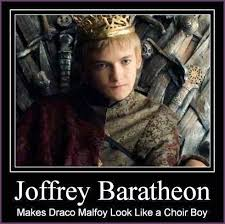 King Joffrey Meme - george rr martin sent a letter to jack gleeson congratulating him on