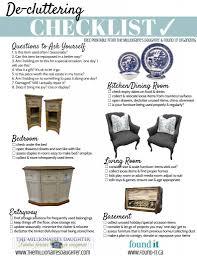 de clutter your home free printable checklist
