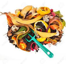 cuisine fond blanc tas de compost de déchets de cuisine isolé sur fond blanc banque d