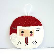 keyhole sand dollar santa claus christmas ornament handmade