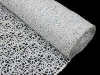 Gold Lace Table Runner Silver Sequin Studded Chemical Lace Table Runner Efavormart