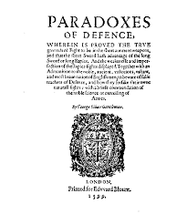 paradoxes of defence by george silver 1599