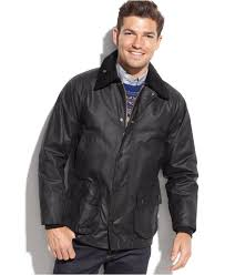 barbour bedale waxed jacket in black for men lyst
