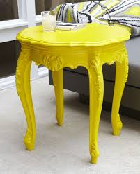 Yellow Side Table Outdoor Baroque Side Table