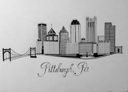 pittsburgh skyline by steelcityink on etsy https www etsy com