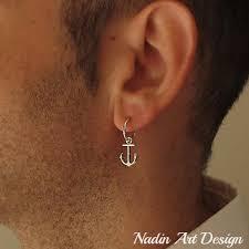 earring men anchor earring for men sterling silver men s jewelry men s