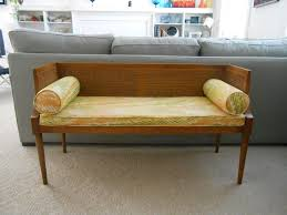 Bedroom Bench With Back Mid Century Modern Bench Design Idea Laluz Nyc Home Design