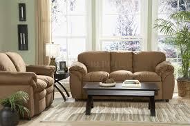 Contemporary Microfiber Sofa 9937br Modern Sofa Loveseat In Brown Microfiber Plush By Homelegance