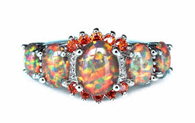 opal rings jewelry images Cool rainbow fire opal rings in wedding bands from jewelry jpg