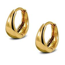 gold earrings uk small tapered hoop earrings womens 9ct gold filled small huggie