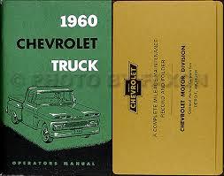1960 chevrolet truck wiring diagram manual reprint