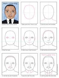 how to draw martin luther king art projects for kids