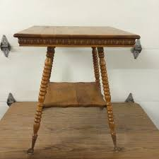 claw foot table with glass balls in the claw antique oak claw foot glass ball parlor table