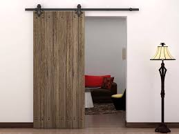 Sliding Door For Closet 6 Ft Country Style Black Barn Wood Steel Sliding Door Closet