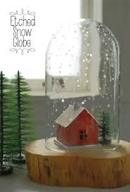 christmas diy craft project how to make an etched snow globe