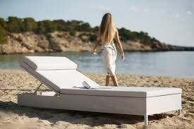 rest cushion chaise lounger sunbed by cane line couture outdoor