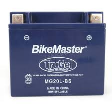bikemaster trugel 12 volt battery mg20l bs atv dirt bike