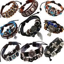 braid hand bracelet images Vintage rope leather mens bracelets leather rope hand woven jpg