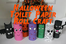 Mini Halloween Ornaments by Diy Halloween Decorations Recycled Toilet Paper Roll Craft