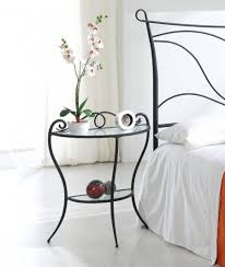 Bedroom Side Tables by Fancy Simple Small Bed Side Table With Metal Body In Silver Tones