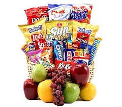 snack gift basket sendflowersphilippines classic snack gift basket with fruit