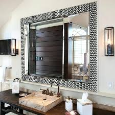 Framed Bathroom Mirrors Ideas White Wood Bathroom Mirror Medium Size Of Wood Framed Bathroom