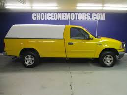 Ford F 150 Yellow Truck - 2001 used ford f 150 xlt reg cab 4wd v8 auto ac 151k low miles at