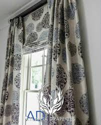 roman shade and matching drapes window treatments pinterest