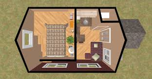 Micro Homes Floor Plans 3d View Of The Loft Bed Of The 192 Sq Ft Innuendo Micro Homes