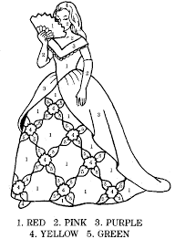 coloring pages color numbers princess coloring colour