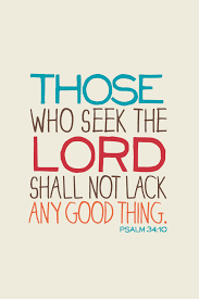 Seeking About Seek The Lord And You Will Be Blessed