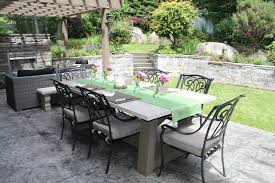 Concrete Patio Table Concrete Outdoor Furniture Traditional Patio Vancouver By
