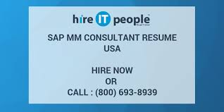 Sap Mm Certified Consultant Resume Sap Mm Consultant Resume Hire It People We Get It Done