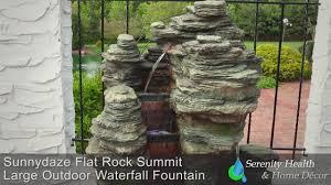 Waterfall Home Decor Sunnydaze Flat Rock Summit Outdoor Waterfall Fountain Dw 09032