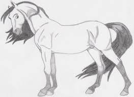 spirit horse drawing cartoon horses spirit free photos