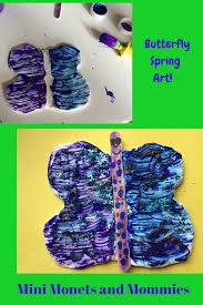mini monets and mommies kids u0027 butterfly model magic craft