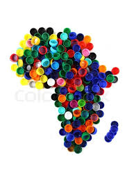 africa map color africa map from color plastic caps stock photo colourbox