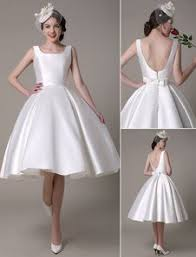 milanoo robe de mari e robe de mariée ivoire bateau sash du genou longueur robe de mariée