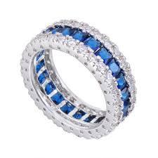 blue rings white images Buy junxin fashion men women blue ring white gold jpg