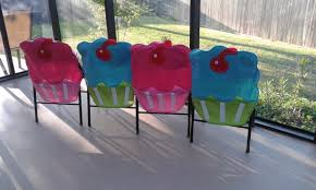 birthday chair cover items similar to cupcake felt chair covers great for birthdays