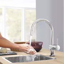 grohe minta kitchen faucet minta touch single handle pull down kitchen faucet touch on