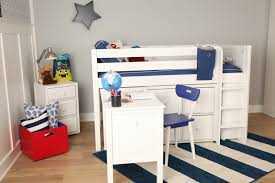 making space in a small kid u0027s room the box low loft with desk