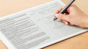 most expensive writing paper sony s giant 700 e paper tablet is a great example of weird sony sony s giant 700 e paper tablet is a great example of weird sony the verge