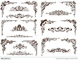 vector vintage ornaments corners borders illustration 52513550