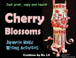 japanese cherry blossom lanterns spring craft haiku poetry