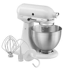 Kitchen Aid Accessories by Classic Series 4 5 Quart Tilt Head Stand Mixer K45sswh White