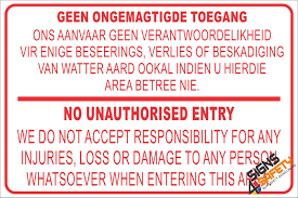 nr1 geen ongemagtigde toegang no unauthorised entry disclaimer