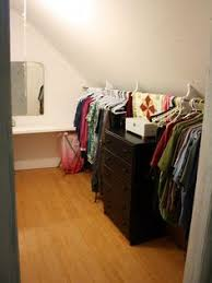 create a hanging closet in that little hidey hole you have with