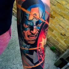 gambar tato kartun di lengan mengintip 10 tato keren superhero yang bisa bikin kamu ngiler